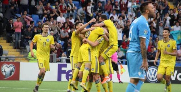 Видео голов и обзор матча с крупной победой Казахстана над Сан-Марино в отборе на Евро-2020