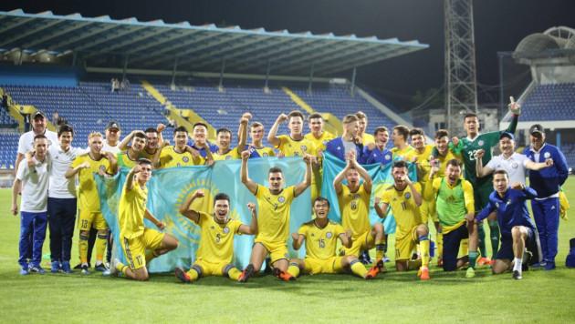 Молодежная сборная Казахстана вырвала победу на 94-й минуте и возглавила группу отбора на Евро-2021