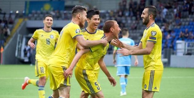 Аналитики назвали лучшего игрока сборной Казахстана в матче с Сан-Марино