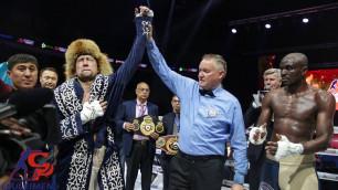 Казахстанский боксер с восемью нокаутами узнал дату защиты титулов WBA, WBC и WBO