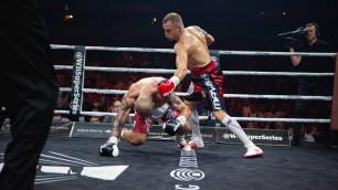 Видео скандального боя за титул WBO с ударом локтем, нокдауном после гонга и нокаутом