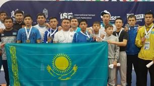 Казахстанские борцы стали лучшими на Всемирных играх среди школьников