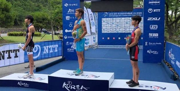 Казахстанец Александр Тен стал чемпионом Азии по триатлону