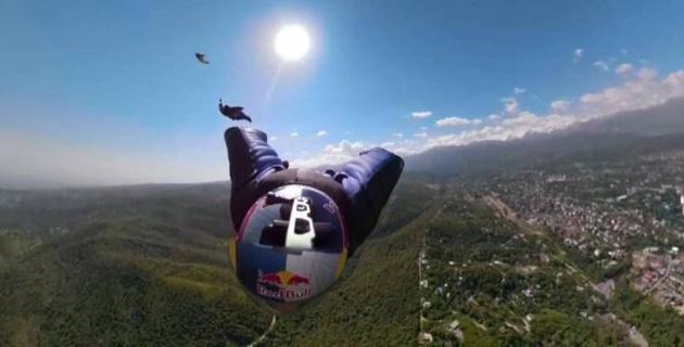 Экстремалы из Австрии сняли на видео полет у алматинской телевышки