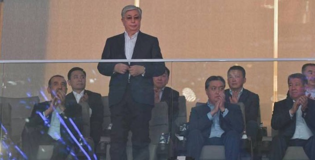 Президент Казахстана открыл Дворец единоборств Jekpe-jek в Нур-Султане