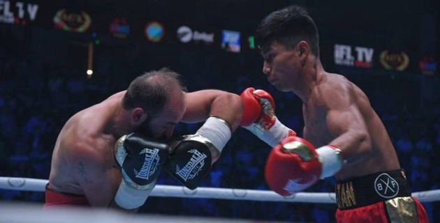 Финалист молодежного ЧМ из Казахстана нокаутировал соперника с 44 боями в профи