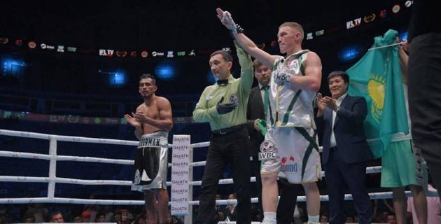 Казахстанский боксер завоевал титул от WBC в бою против мексиканца с 24 победами