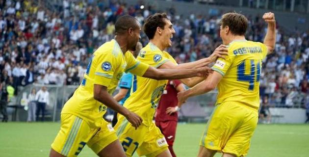 """""""Астана"""" прибыла в Румынию для ответного матча Лиги чемпионов"""