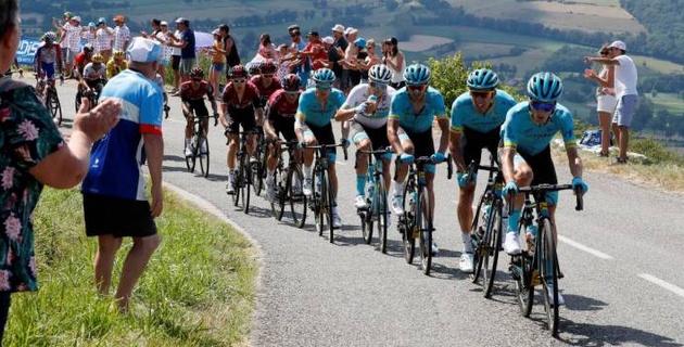 """Капитан """"Астаны"""" поднялся на 15-е место общего зачета по итогам 11-го этапа """"Тур де Франс"""""""