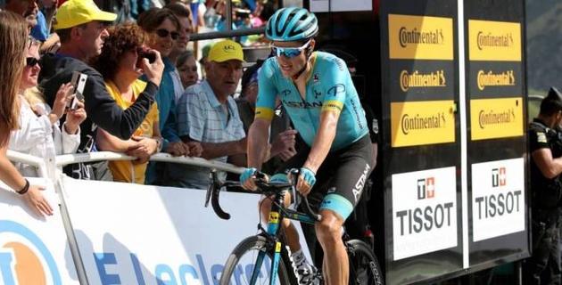 """Капитан """"Астаны"""" вернулся в десятку лидеров """"Тур де Франс"""" после 14-го этапа"""