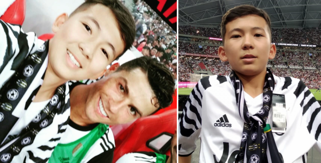 Мальчик из Казахстана выбежал к Криштиану Роналду во время матча