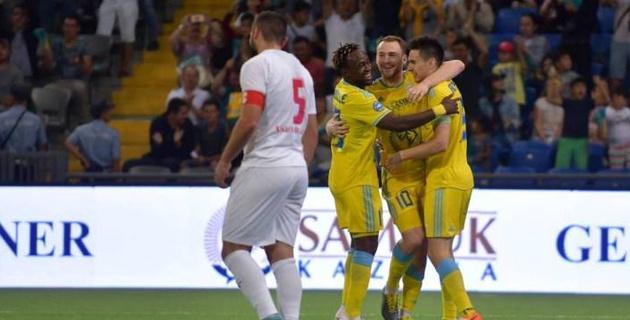 """Видео всех пяти голов, или как """"Астана"""" одержала разгромную победу в матче Лиги Европы"""