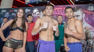 Непобежденный казахстанец со второй попытки смог уложиться в вес перед боем за титулы от WBO, WBA и IBF