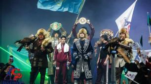 Непобежденный казахстанец с восемью нокаутами защитил титулы от WBC, WBA и WBO