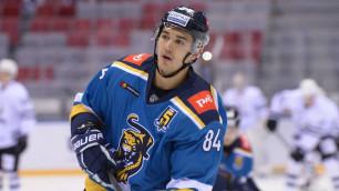 Российский клуб из КХЛ расстался с воспитанником казахстанского хоккея