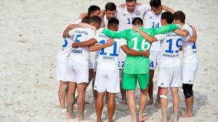 Сборная Казахстана по пляжному футболу уступила Азербайджану в финале Евролиги