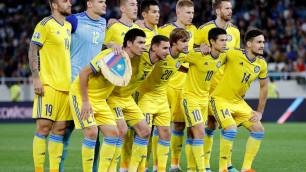Сборная Казахстана играет вничью с Россией после первого тайма матча отбора на Евро-2020