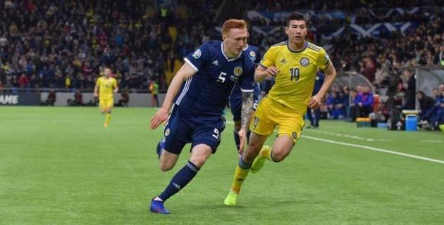 """""""Действуют компактно"""". Шотландский комментатор оценил игру Казахстана и назвал фаворита в борьбе за третье место группы в отборе на Евро"""