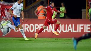 """Футболист """"Жетысу"""" получил травму в победном матче отбора на Евро-2020"""