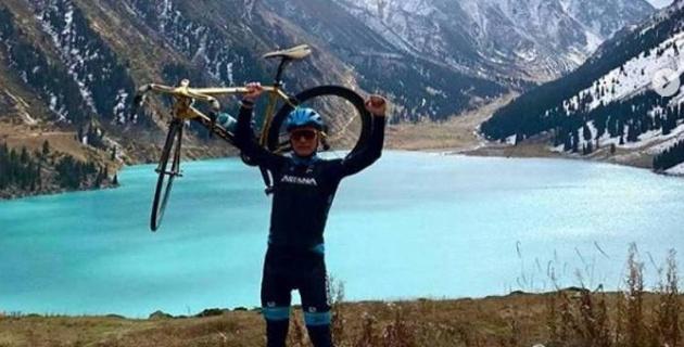 Велосипед от Александра Винокурова стоимостью 2 миллиона тенге достался жителю Павлодара