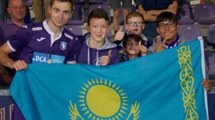 Защитник сборной Казахстана по футболу забил первый гол за бельгийский клуб
