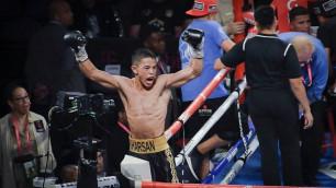 Казахстанец с титулом от WBC нокаутировал небитого американца в андеркарте Тайсона Фьюри
