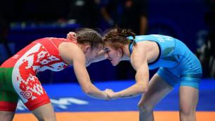Три казахстанки вышли в полуфинал ЧМ-2019 по борьбе и принесли первую лицензию на Олимпиаду-2020
