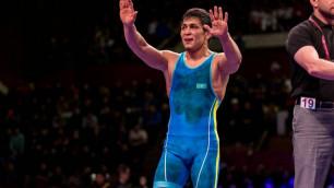 Казахстанский борец победил лидера мирового рейтинга и вышел в финал ЧМ-2019