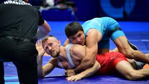 20-летний казахстанец досрочно прошел двух соперников и вышел в полуфинал ЧМ-2019 по борьбе