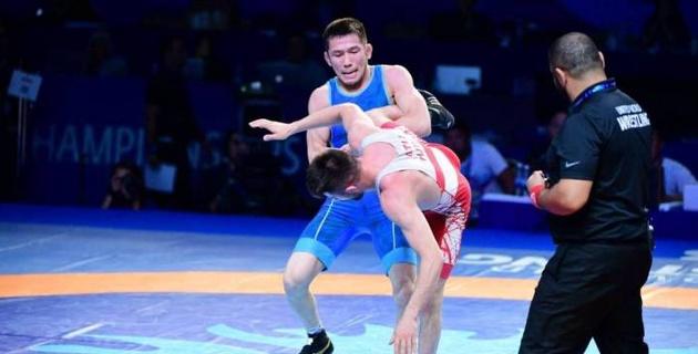 Казахстанский борец Санаев во второй раз в карьере выиграл медаль на ЧМ