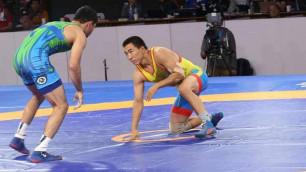 Казахстанский борец после завоевания лицензии на ОИ-2020 проиграл французу и остался без медали ЧМ-2019