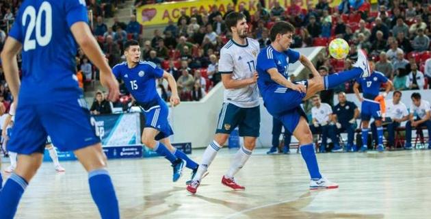 Сборная Казахстана по футзалу сыграла вничью с Россией