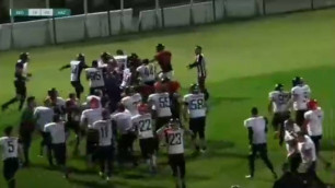 Товарищеский матч сборных Казахстана и Грузии по американскому футболу завершился массовой дракой