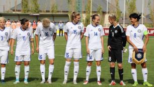 Казахстанские футболистки разгромно проиграли во втором матче отбора на Евро-2021 и опустились на последнее место в группе