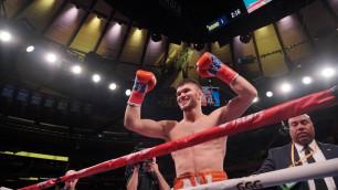 Али Ахмедов нокаутировал американца за 44 секунды и защитил титул от WBC в андеркарте Головкина