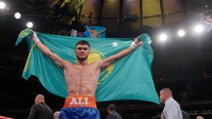 Видео нокаута, или как казахстанец Али Ахмедов победил за 44 секунды в андеркарте Головкина