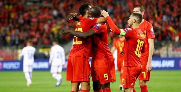 Бельгия перед матчем с Казахстаном забила девять голов и официально вышла на Евро-2020