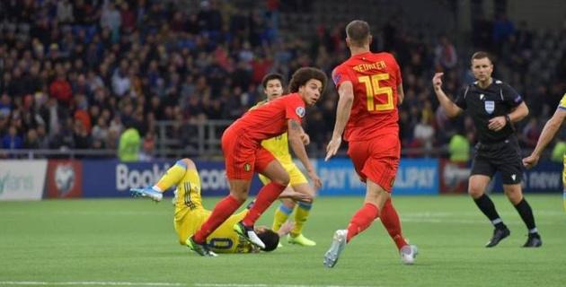 Сборная Казахстана пропустила от Бельгии в первом тайме матча отбора на Евро-2020