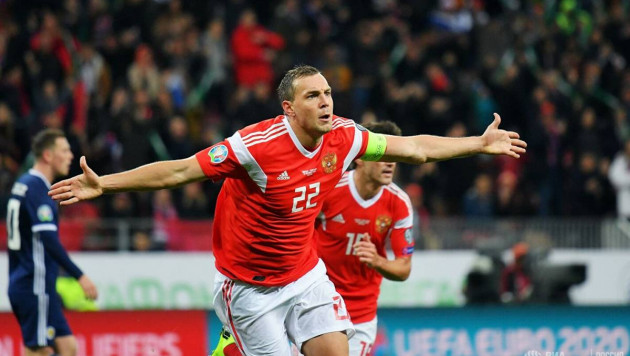 Россия разгромила обидчика сборной Казахстана и вышла на Евро-2020