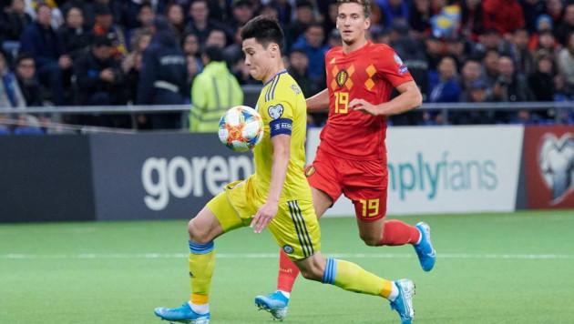Назван лучший игрок сборной Казахстана в матче против Бельгии