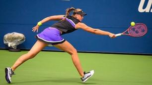 20-летняя теннисистка из Казахстана выиграла сет 6:0 и вышла в полуфинал турнира WTA