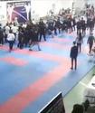 Массовой дракой завершился турнир по каратэ