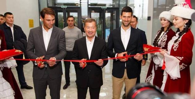 Джокович и Надаль открыли новый теннисный центр в Нур-Султане