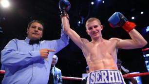 Тренировавшийся с Головкиным боксер выиграл нокаутом 16-й подряд бой и завоевал титул от WBC