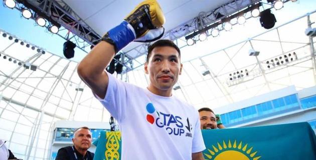 Бой Алимханулы за титулы от WBC и WBO покажут в Казахстане в прямом эфире