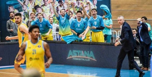 """Баскетболисты """"Астаны"""" выиграли третий домашний матч подряд в Единой лиге ВТБ"""