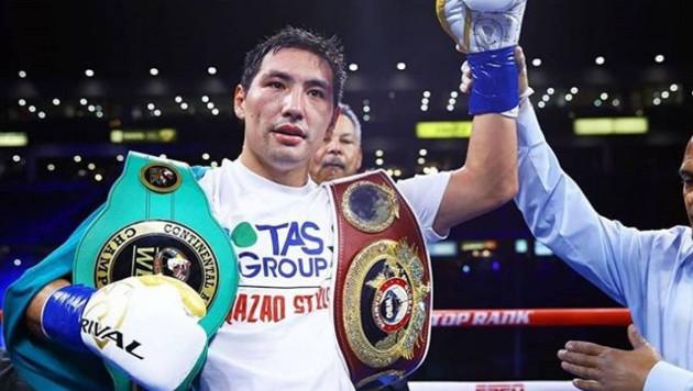 Алимханулы прокомментировал победу нокаутом и защиту титулов от WBC и WBO