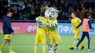 """Фанаты """"Астаны"""" выбежали на поле перед награждением команды за чемпионство"""