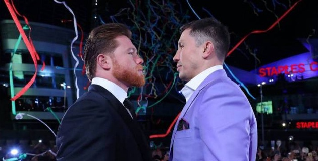"""DAZN выбрал дату для третьего боя между Головкиным и """"Канело"""""""