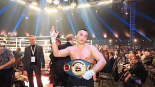 Казахстанский супертяж взлетел в рейтинге после победы нокаутом в первом раунде титульного боя